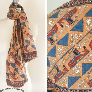 Vintage Egyptian Sphinx Women's Scarf Multicolored
